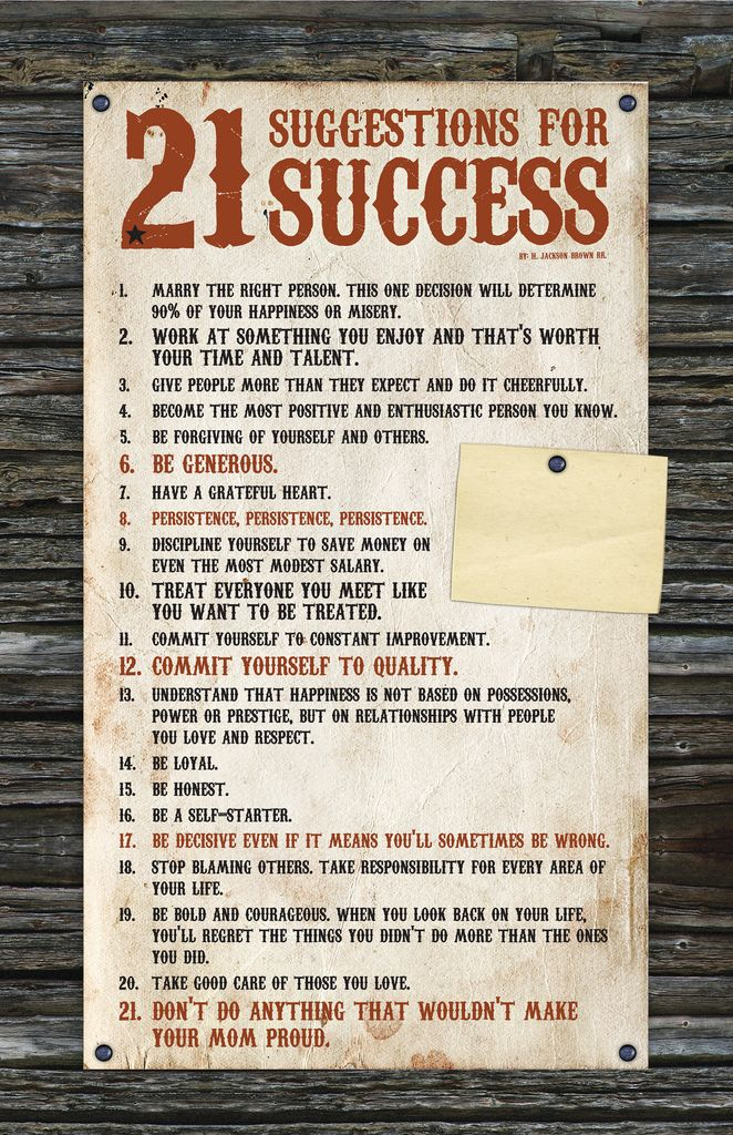 21 suggestions for success orlando espinosa