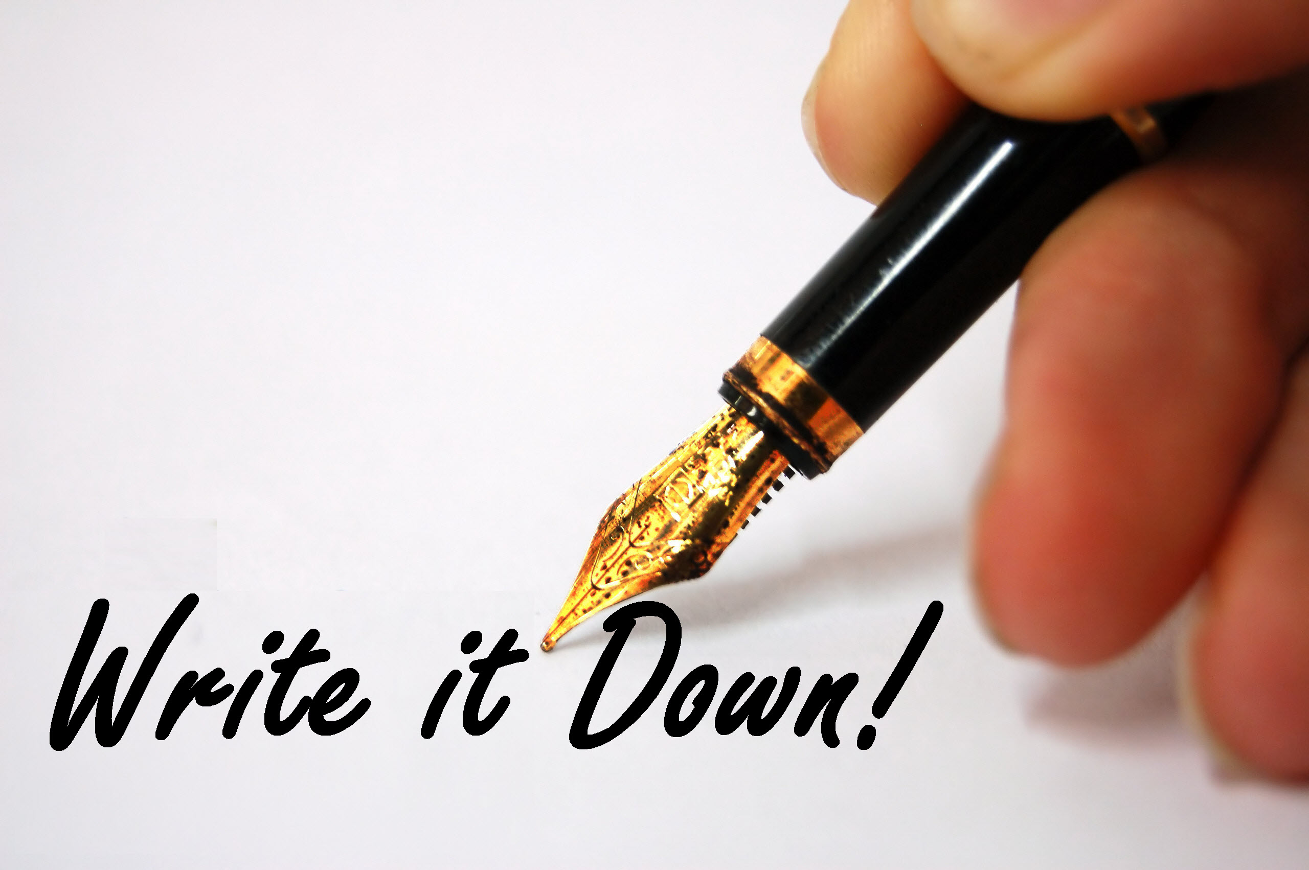 Image result for write it down