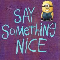 Saying Something Nice