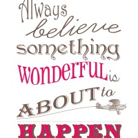 Something Wonderful Happens