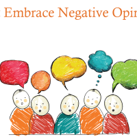 Don't Embrace Negative Opinions
