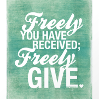 Freely Give Others