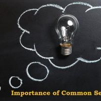 Importance of Common Sense